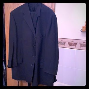 Pierre Cardin suit with suspenders